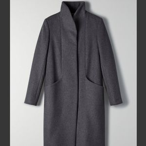Wilfred Cocoon Wool Coat - Charcoal